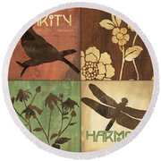 Organic Nature 2 Round Beach Towel