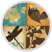 Organic Nature 4 Round Beach Towel by Debbie DeWitt