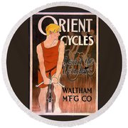 Orient Cycles 1890 Round Beach Towel