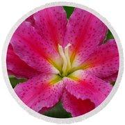 Oriental Lily Round Beach Towel