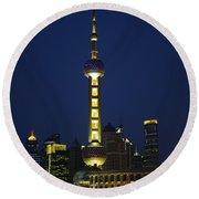 Oriental Pearl Tower, Shanghai Round Beach Towel