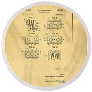 Original Patent For Lego Toy Building Brick Round Beach Towel by Edward Fielding