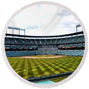 Oriole Park At Camden Yards Round Beach Towel