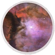 Orion In Miniature Round Beach Towel