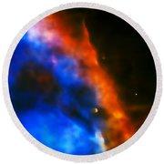 Orion Nebula Rim Round Beach Towel