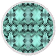Ornamental Abstract Green Crystal Round Beach Towel