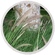 Ornamental Grass Round Beach Towel