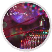 Ornaments-2052-merrychristmas Round Beach Towel