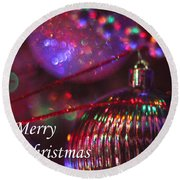 Ornaments-2054-merrychristmas Round Beach Towel