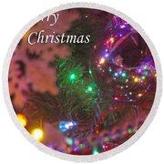 Ornaments-2090-merrychristmas Round Beach Towel