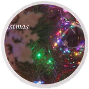 Ornaments-2096-merrychristmas Round Beach Towel