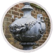 Ornate Garden Urn Round Beach Towel