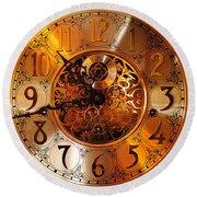 Ornate Timekeeper Round Beach Towel