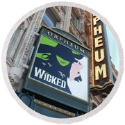 Orpheum Sign Round Beach Towel