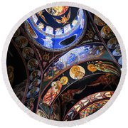 Orthodox Church Interior Round Beach Towel