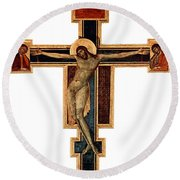 Orthodox Cross Round Beach Towel