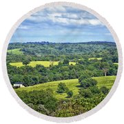 Osage County Lookout Round Beach Towel
