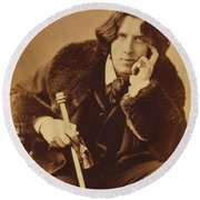 Oscar Wilde 1882 Round Beach Towel