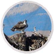 Osprey And Catch Round Beach Towel