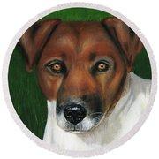 Otis Jack Russell Terrier Round Beach Towel