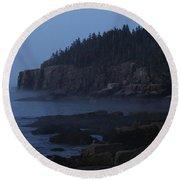Otter Cliffs 3 Round Beach Towel