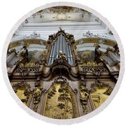 Ottobeuren Abbey Organ Round Beach Towel