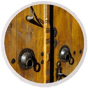 Ottoman Door Knockers Round Beach Towel