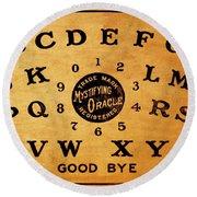 Ouija Board 3 Round Beach Towel