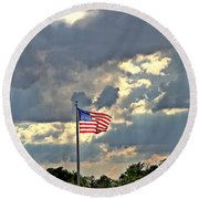 Our Country Round Beach Towel by Dan Sproul