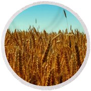 Our Daily Bread Round Beach Towel