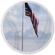 Our Flag Round Beach Towel by Joseph Baril