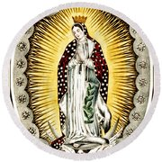 Our Lady Of Guadelupe 1848 Round Beach Towel
