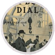 Our New Dry Dock Round Beach Towel by Edward Hopper