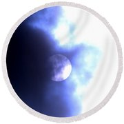 Our Changing Sun Round Beach Towel