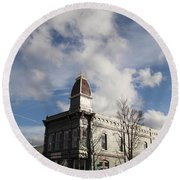 Our Town - Grants Pass In Old Town Round Beach Towel