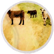 Our Way Or The Highway P Round Beach Towel