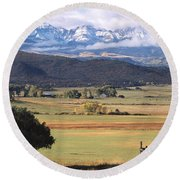 Ouray County Round Beach Towel