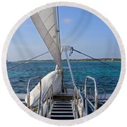 Out For A Sail Round Beach Towel