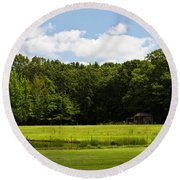 Out In The Country Round Beach Towel