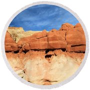 Out Of Place Round Beach Towel