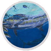Out Of The Blue Off009 Round Beach Towel by Carey Chen