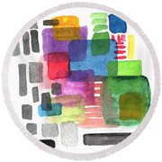 Out Of The Box Round Beach Towel
