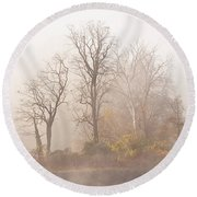 Out Of The Mist Round Beach Towel