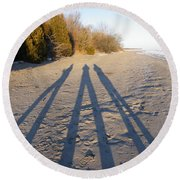 Out Of The Shadows Round Beach Towel