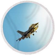 Out Of The Wild Blue Round Beach Towel