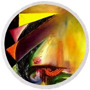 Out Of Time. Out Of Space. Round Beach Towel