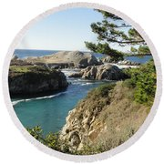 Out To Sea Round Beach Towel