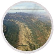 Outback Mountains Round Beach Towel