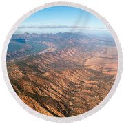 Outback Ranges Round Beach Towel