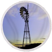 Outback Windmill Round Beach Towel